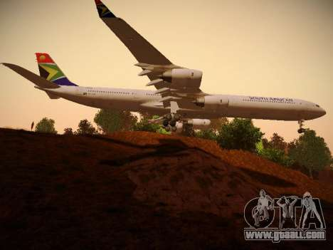 Airbus A340-600 South African Airways for GTA San Andreas back view