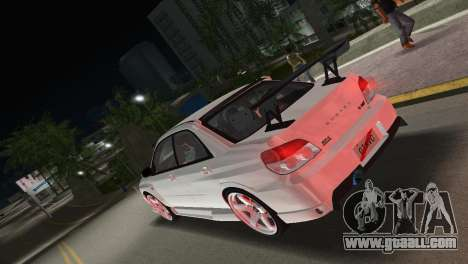 Subaru Impreza WRX STI 2006 Type 3 for GTA Vice City left view