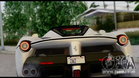 Ferrari LaFerrari 2014 (HQLM) for GTA San Andreas back view