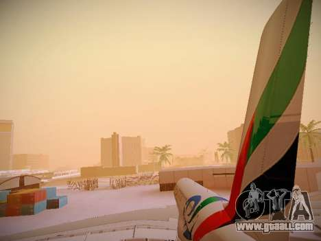 Airbus A380-800 Emirates Rugby World Cup for GTA San Andreas