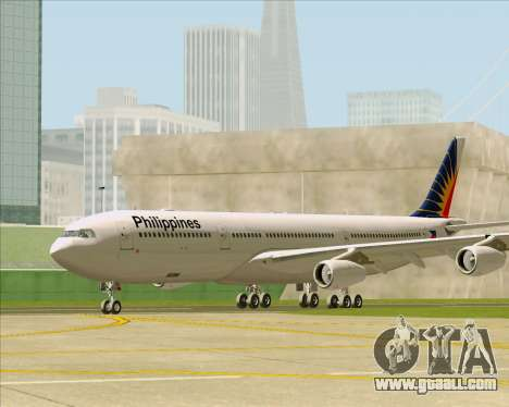 Airbus A340-313 Philippine Airlines for GTA San Andreas back left view