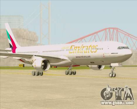 Airbus A330-300 Emirates for GTA San Andreas left view