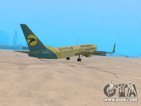 Boeing 737-84R Ukraine International Airlines for GTA San Andreas right view