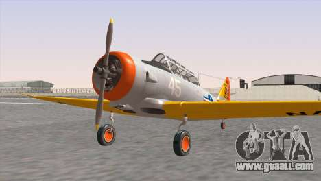 North American T-6 TEXAN N645DS for GTA San Andreas