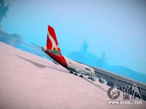 Boeing 747-438 Qantas Boxing Kangaroo for GTA San Andreas inner view
