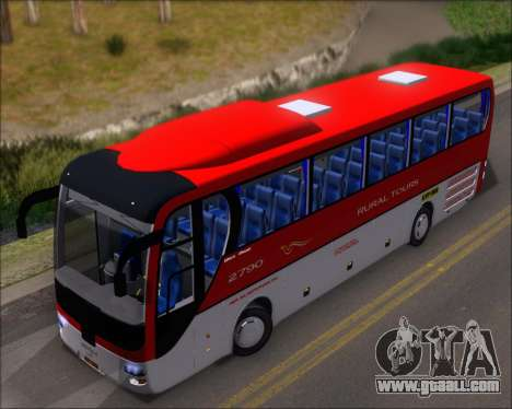 MAN Lion Coach Rural Tours 2790 for GTA San Andreas back view