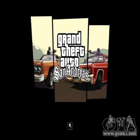 HD loading screen and menu for GTA San Andreas third screenshot