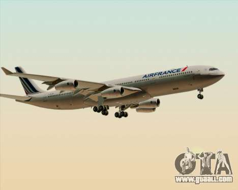 Airbus A340-313 Air France (New Livery) for GTA San Andreas wheels