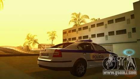 Skoda Octavia Albanian Police Car for GTA Vice City left view