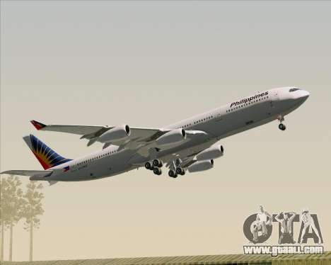 Airbus A340-313 Philippine Airlines for GTA San Andreas engine