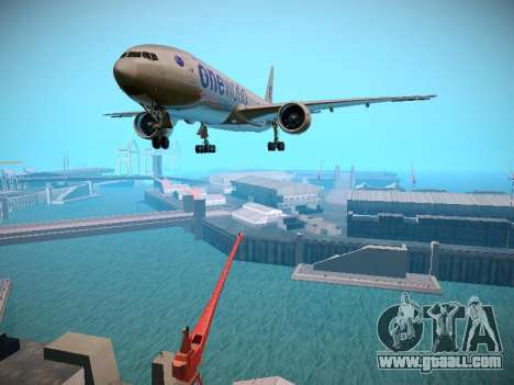 Boeing 777-223ER American Silver Bullet for GTA San Andreas left view