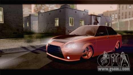 Lada 2170 Priora Orange for GTA San Andreas