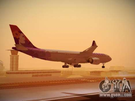 Airbus A330-200 Hawaiian Airlines for GTA San Andreas engine