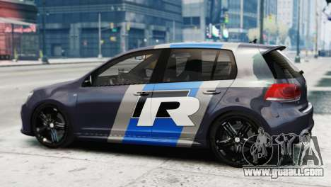 Volkswagen Golf R 2010 Polo WRC Style PJ2 for GTA 4 left view