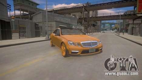Mercedes-Benz E63 AMG для GTA 4 for GTA 4 back view