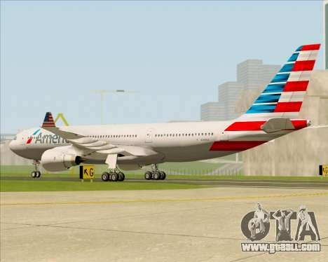 Airbus A330-200 American Airlines for GTA San Andreas right view