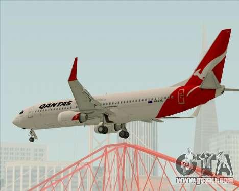 Boeing 737-838 Qantas for GTA San Andreas upper view
