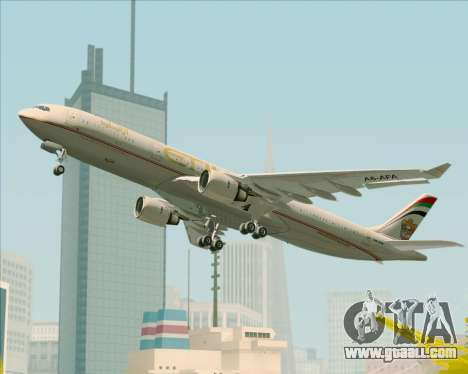 Airbus A330-300 Etihad Airways for GTA San Andreas wheels