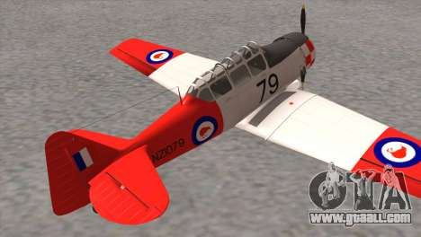 North American T-6 TEXAN NZ1079 for GTA San Andreas back left view