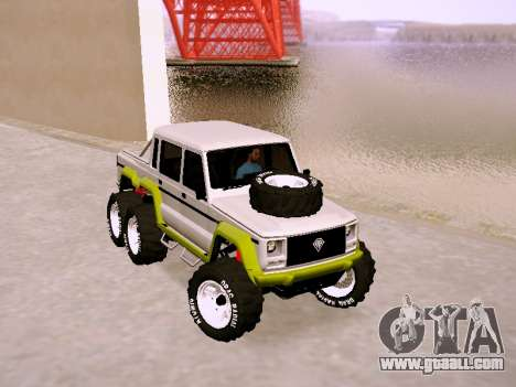 Benefactor Dubsta 6x6 for GTA San Andreas