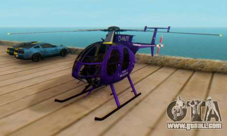 The MD500E helicopter v1 for GTA San Andreas
