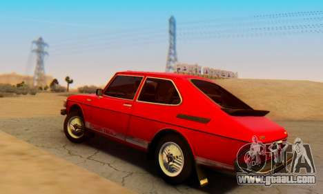 Saab 99 Turbo 1978 for GTA San Andreas left view