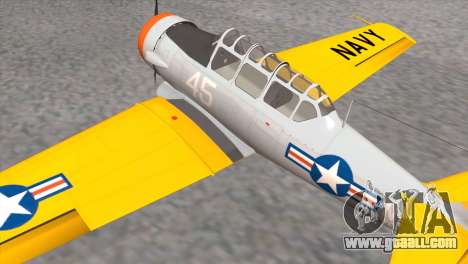 North American T-6 TEXAN N645DS for GTA San Andreas back left view
