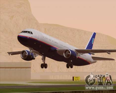 Airbus A320-232 United Airlines (Old Livery) for GTA San Andreas engine