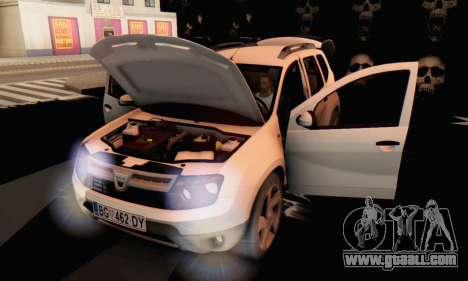 Dacia Duster for GTA San Andreas back view