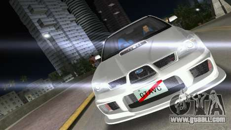 Subaru Impreza WRX STI 2006 Type 3 for GTA Vice City right view