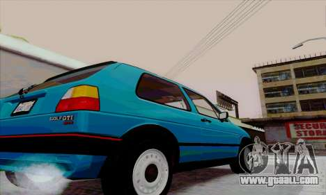 Volkswagen Golf 2 GTi for GTA San Andreas back left view