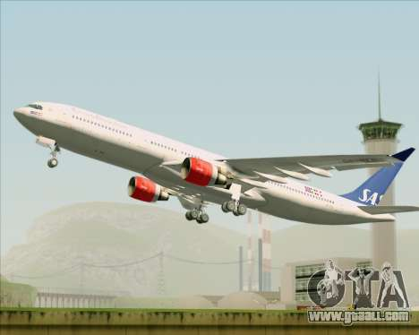 Airbus A330-300 Scandinavian Airlines System. for GTA San Andreas inner view