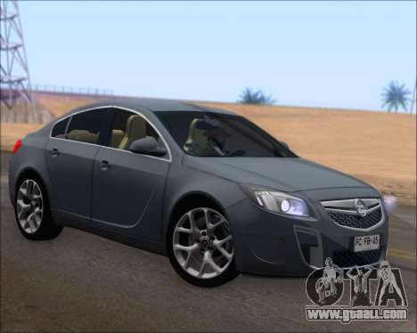 Opel Insignia OPC for GTA San Andreas left view