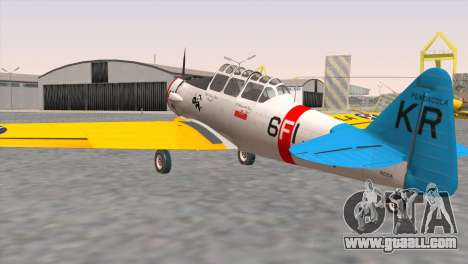 North American T-6 TEXAN N211A for GTA San Andreas left view