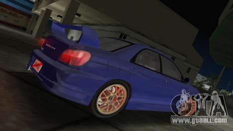 Subaru Impreza WRX 2002 Type 2 for GTA Vice City left view