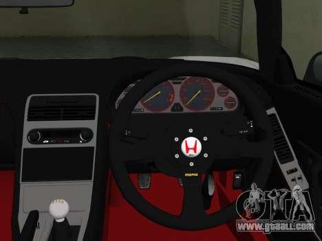 Honda NSX-R for GTA Vice City right view
