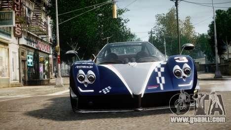 Pagani Zonda Tricolore for GTA 4 back view