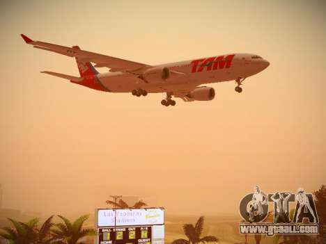 Airbus A330-200 TAM Airlines for GTA San Andreas upper view