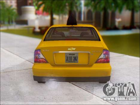 Chevrolet Evanda Taxi for GTA San Andreas right view