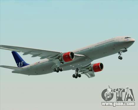 Airbus A330-300 Scandinavian Airlines System. for GTA San Andreas engine