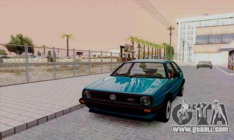 Volkswagen Golf 2 GTi for GTA San Andreas inner view