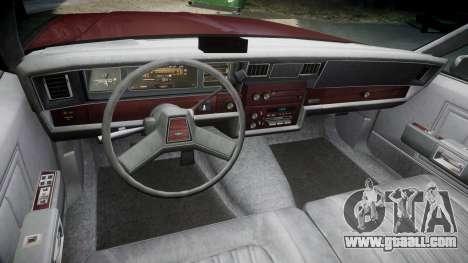 Chevrolet Impala 1985 for GTA 4 back view