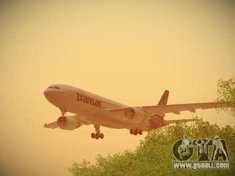 Airbus A330-200 Air Transat for GTA San Andreas engine