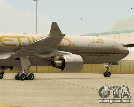 Airbus A330-300 Etihad Airways for GTA San Andreas side view