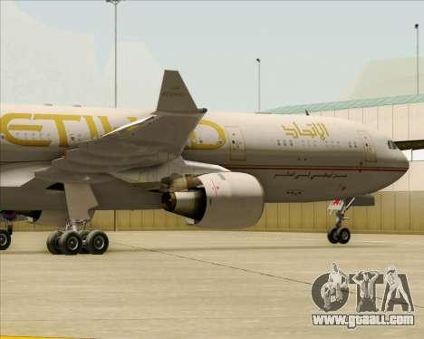 Airbus A330-300 Etihad Airways for GTA San Andreas side view