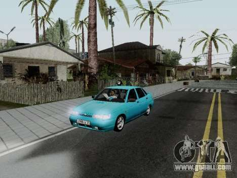 VAZ 2110 for GTA San Andreas bottom view
