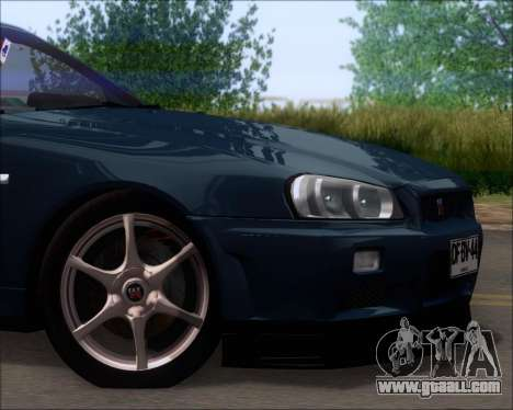 Nissan Skyline GT-R R34 V-Spec II for GTA San Andreas side view