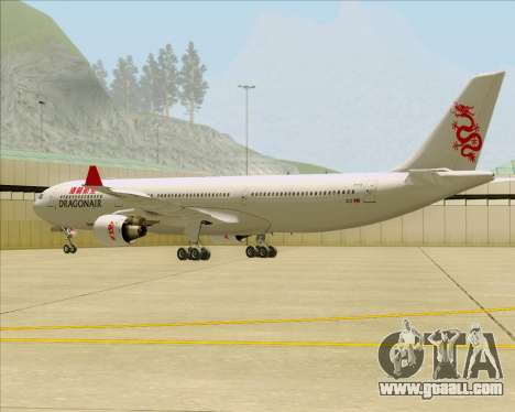 Airbus A330-300 Dragonair for GTA San Andreas back left view