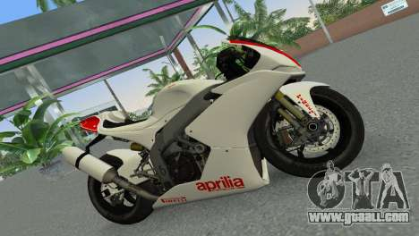 Aprilia RSV4 2009 Gray Edition for GTA Vice City