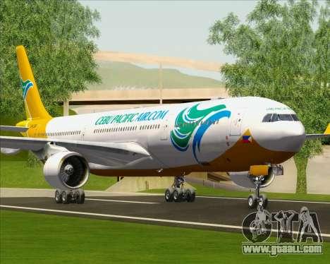 Airbus A330-300 Cebu Pacific Air for GTA San Andreas wheels